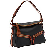 As Is Dooney & Bourke Pebble Leather E/W Zip Sac Hobo - A265709