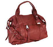 As Is Aimee Kestenberg Pebble Leather Convertible Satchel Bag - A267109