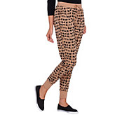Lisa Rinna Collection Drawstring Printed Knit Pants - A268109