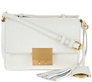 Isaac Mizrahi Live! Whitney Pebble Leather Crossbody Handbag - A276209
