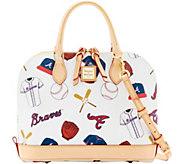 Dooney & Bourke MLB Braves Zip Zip Satchel - A280109