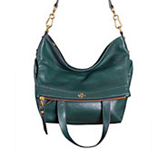 As Is orYANY Pebble Leather Convertible Satchel - Lynn - A280509