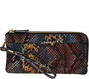 LODIS Italian Leather Double Zip Wristlet with RFID - Kennedy - A283609