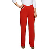As Is George Simonton Textured Knit Pull-on Regular Pants - A285909