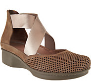 Dansko Nubuck Leather Perforated Slip-on Shoes - Laura - A289109