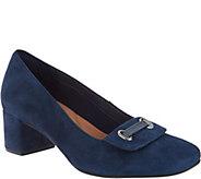 Clarks Artisan Leather Block Heel Pumps - Tealia Gia - A295109