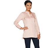 Belle by Kim Gravel Girlfriend Shirt with Zipper Pockets - A296109