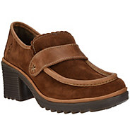 FLY London Suede Loafers with Leather Trim - Wend - A296809