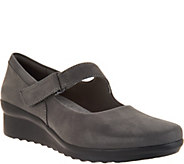 Clarks Cloud Steppers Wedge Mary Janes - Caddell Yale - A298009