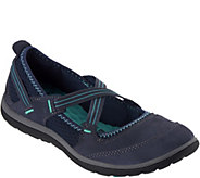 As Is Clarks Outdoor Leather Criss-Cross Mary Janes- Aria Maryjane - A302209