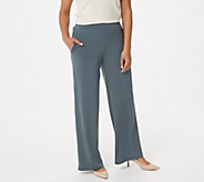 Susan Graver Regular Liquid Knit Palazzo Pants - A303409