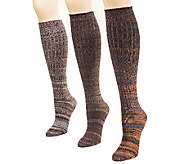 MUK LUKS Womens 3-Pair Marl Knee-High Socks - A336109