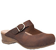 Dansko Open Back Leather Mary Jane Clogs - Martina - A340909