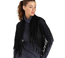 Joan Rivers Fringed Knit Infinity Scarf