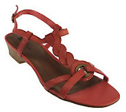 White Mountain Equity Leather T-Strap Sandals - A222610