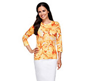 Isaac Mizrahi Live! Photo Real Peony Bouquet Cardigan - A252110