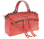 B. Makowsky Campbell Zip Top Leather Satchel - A252310