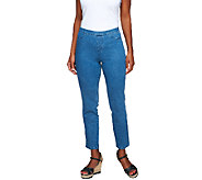 Isaac Mizrahi Live! Petite 365 Stretch Denim Ankle Jeans - A254310