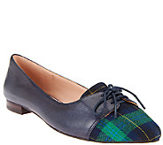 Sole Society Oxford Leather & Haircalf Flats - Lillie - A255810