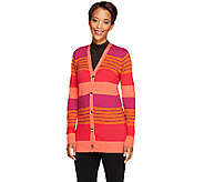 Liz Claiborne New York Striped Boyfriend Cardigan - A256410