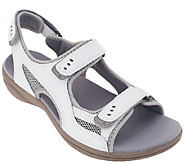Clarks Leather Adj. Sport Sandals - InMotion Thorn - A261310