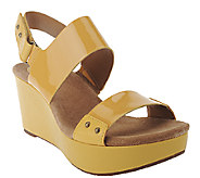 Clarks Artisan Patent Leather Wedges with Backstrap - Caslynn Dez - A264610