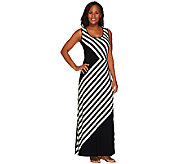 Linea by Louis DellOlio Regular Stripe Printed Maxi Dress - A265610