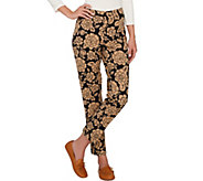 Isaac Mizrahi Live! 24/7 Stretch Floral Damask Ankle Pants - A266710