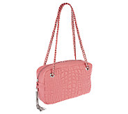 As Is Aimee Kestenberg Pebble Leather Rose Quilted Shoulder Bag - A267110