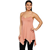 LOGO Layers by Lori Goldstein Knit Tank with Trapeze Hem - A274110