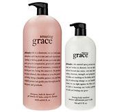 philosophy amazing grace mega-size shower gel & lotion duo - A275710