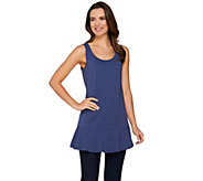 Studio By Denim & Co. Scoop Neck Peplum Knit Tunic Tank - A276110
