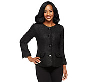 As Is Joan Rivers Shimmering Chic Textered Woven Jacket - A277610