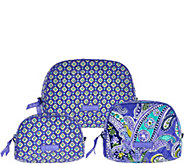 Vera Bradley Signature Print Set of 3 Cosmetic Cases - A278110