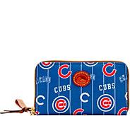 Dooney & Bourke MLB Nylon Cubs Zip Around Phone Wristlet - A281710