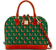 Dooney & Bourke NCAA University of Miami Zip Zip Satchel - A283210