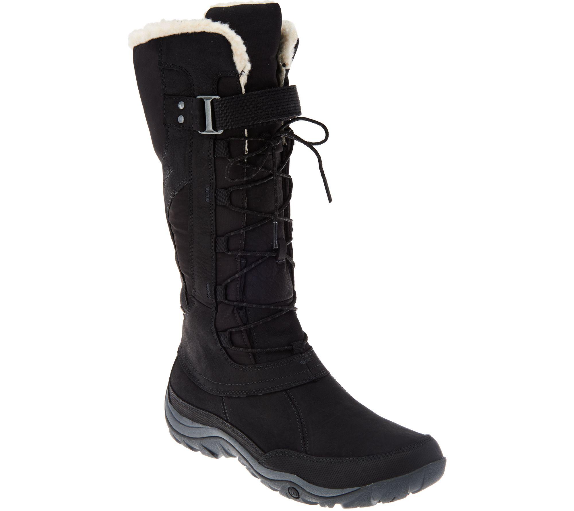 merrell waterproof distressed leather boots murren