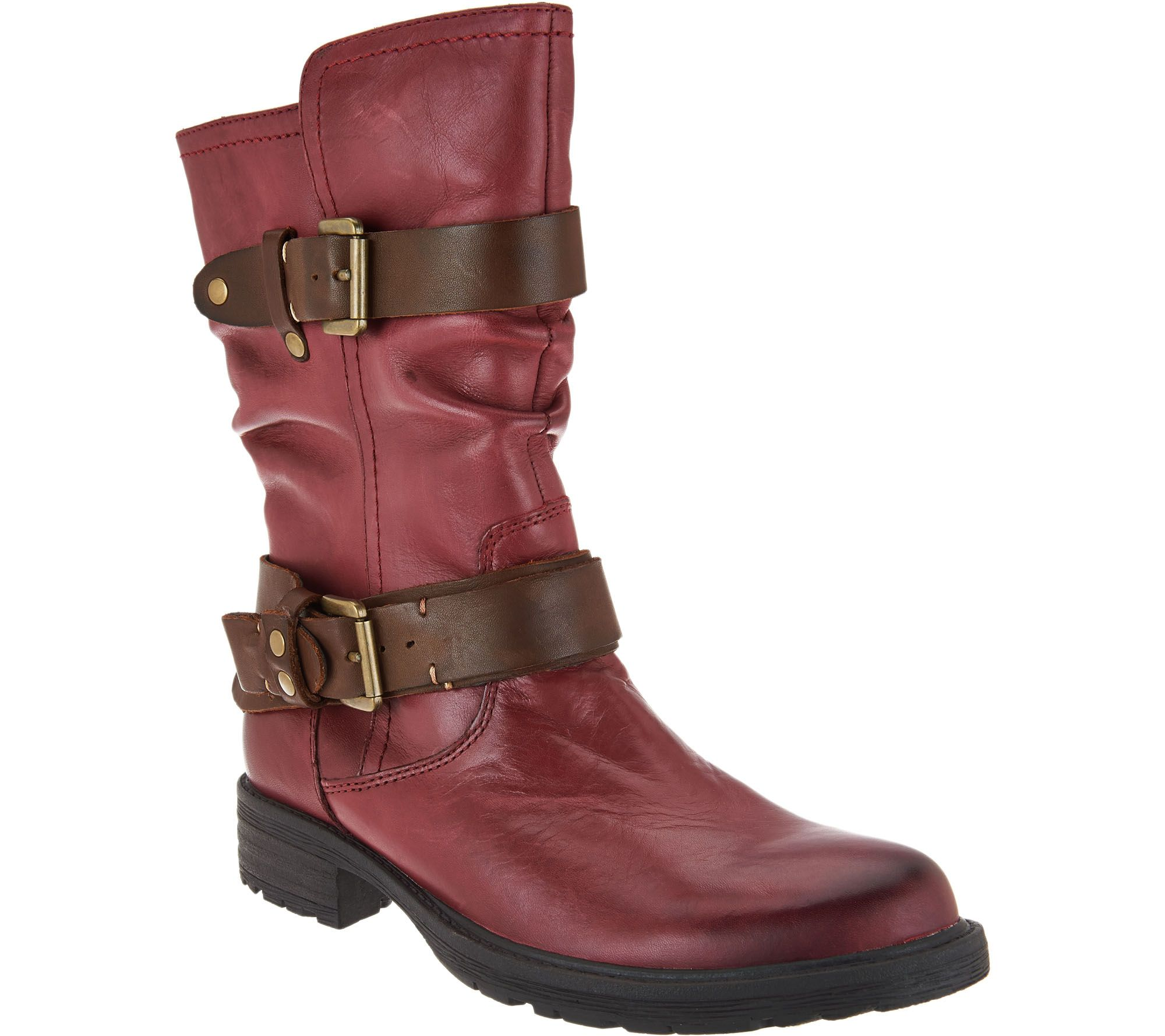Earth Leather Mid Calf Boots w/ Buckles - Everwood - Page ...