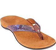 Vionic Orthotic Snake Print Thong Sandal - Peri - A287710