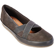 As Is Clarks Collection Nubuck Leather Slip-on Shoes - Lorry Lucent - A287910