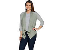 Lisa Rinna Collection Drape Front Lounge Jacket - A289010