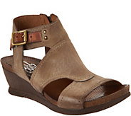 Miz Mooz Leather Side Zip Wedge Sandals - Scout - A290410