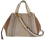 As Is orYANY Pebble Leather Satchel - Elissa - A296610