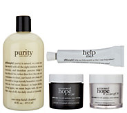 philosophy purity, renewed hope & help me complete am/pm skincare system - A343410