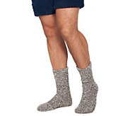 Barefoot Dreams Cozychic Heathered Mens Socks - A360510