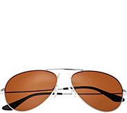 Bertha Brooke Silvertone Sunglasses w/ Polarized Lenses - A361210