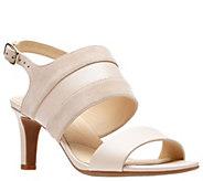 Clarks Artisan Leather Mid-Heel Sandals - Laureti Joy - A412110