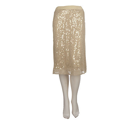 Chit Chat Sequin Mesh Pull-on Skirt