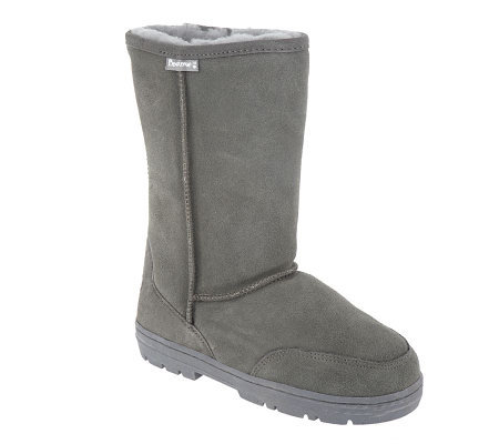 Bearpaw Suede Pull-on Mid Boots w/Sheepskin Lining