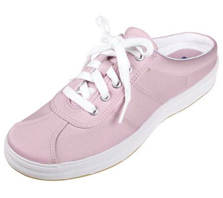 keds micro stretch open back sneakers qvc